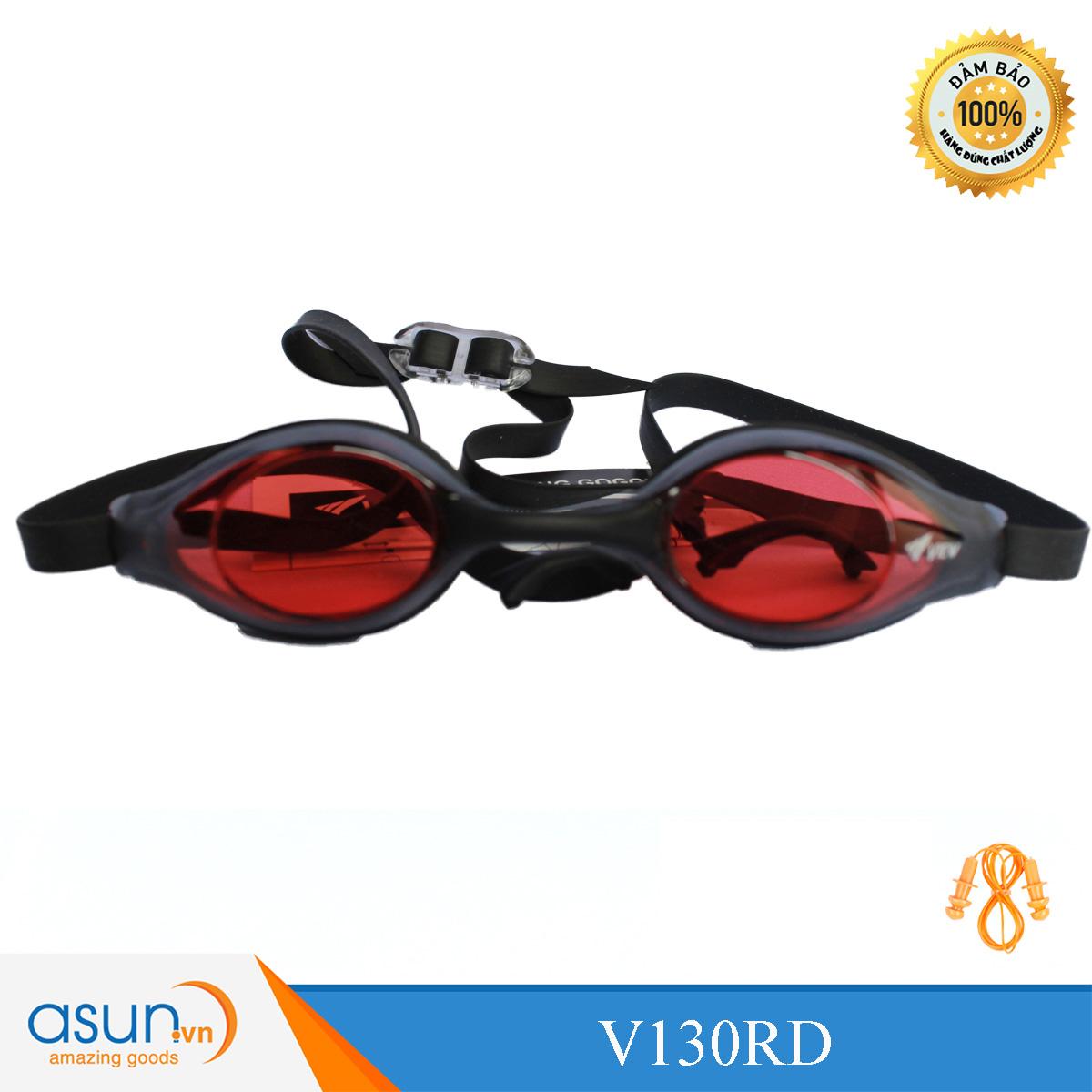 Kính bơi thi đấu chuyên nghiệp màu đỏ ViewV130RD