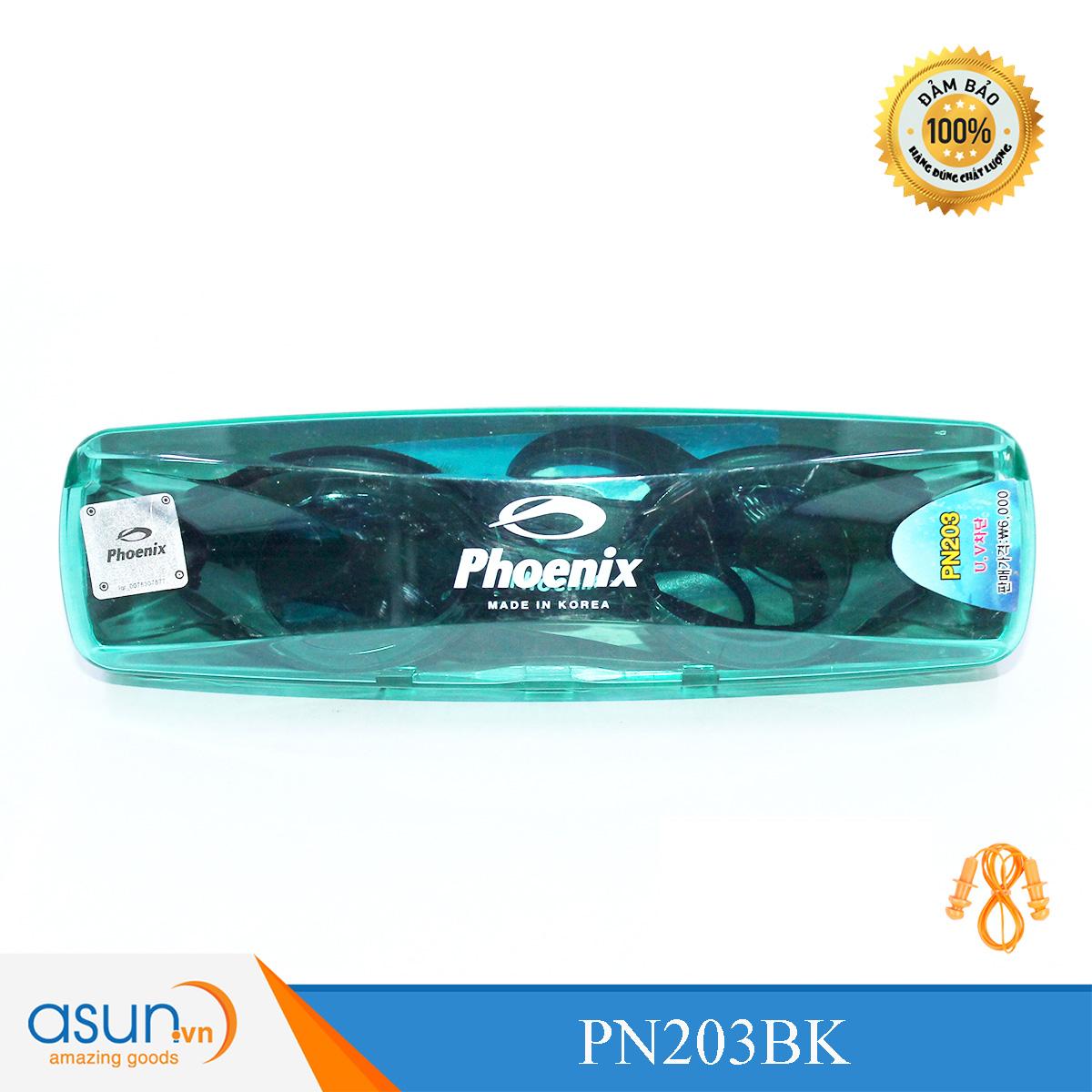 Kính Bơi Phoenix Chính Hãng Hàn Quốc Màu Đen P203BK
