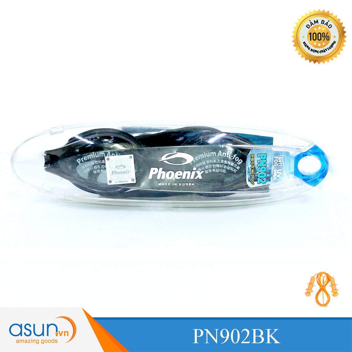 Kính bơi Phoenix Hàn Quốc Chuyên Nghiệp PN902 màu đen P902BK