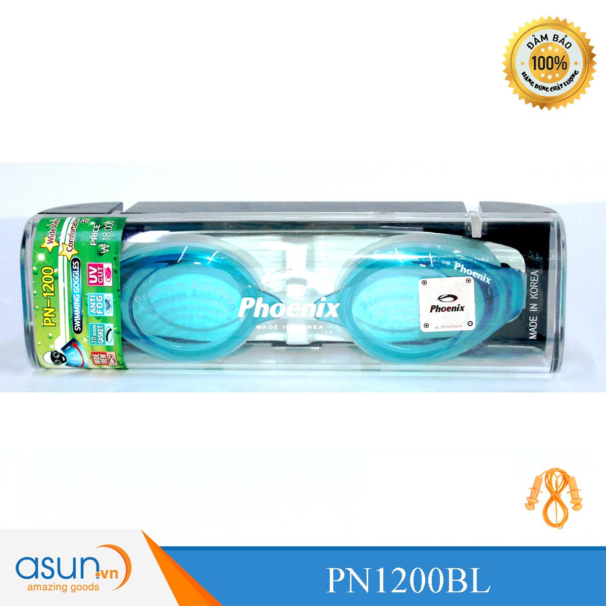 Kính bơi Phoenix chuyên nghiệp Hàn Quốc màu xanh nhạt PN1200AQ