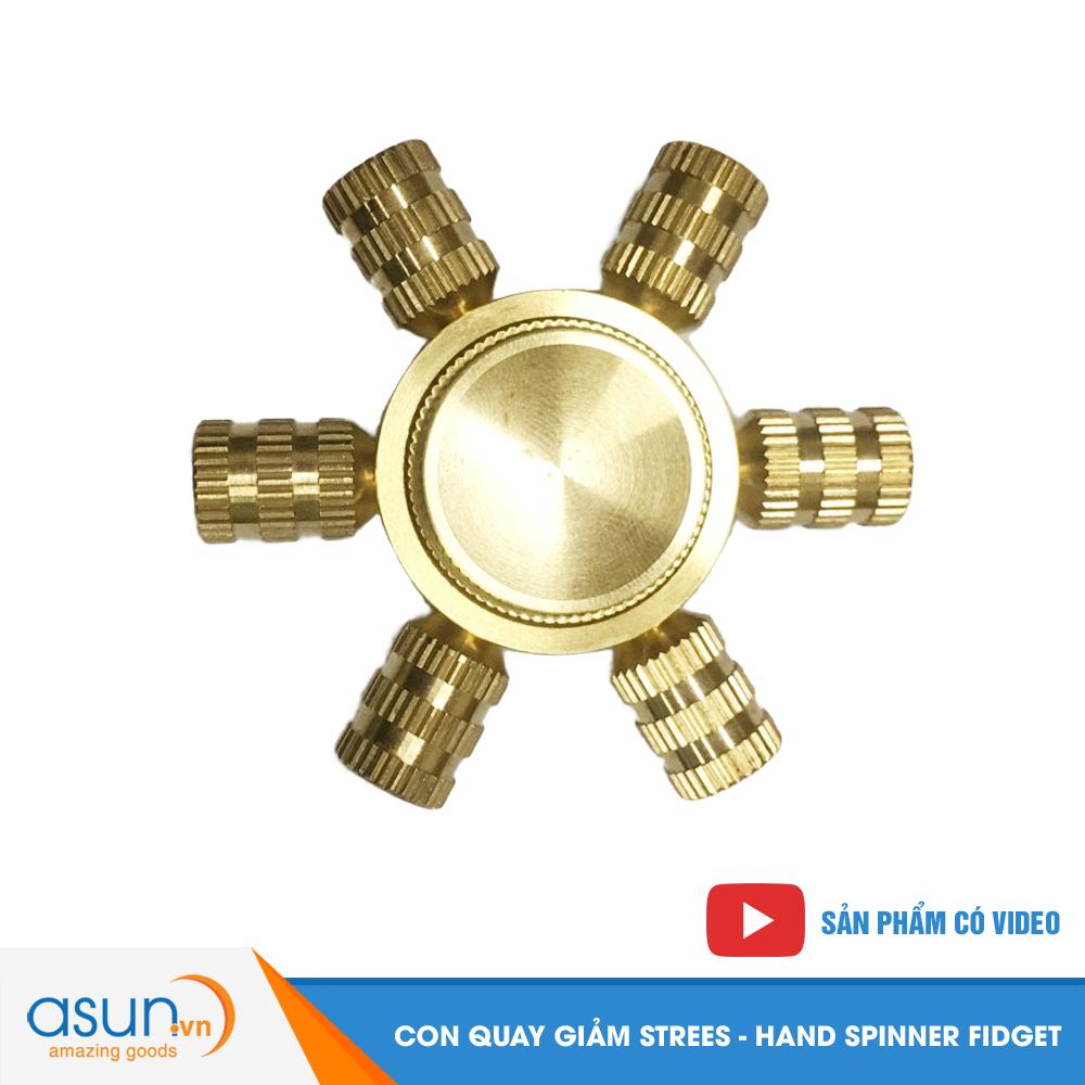 Con Quay Giảm Stress Groove 6 Bằng Đồng Cánh Hand Spinner - Fidget Spinner