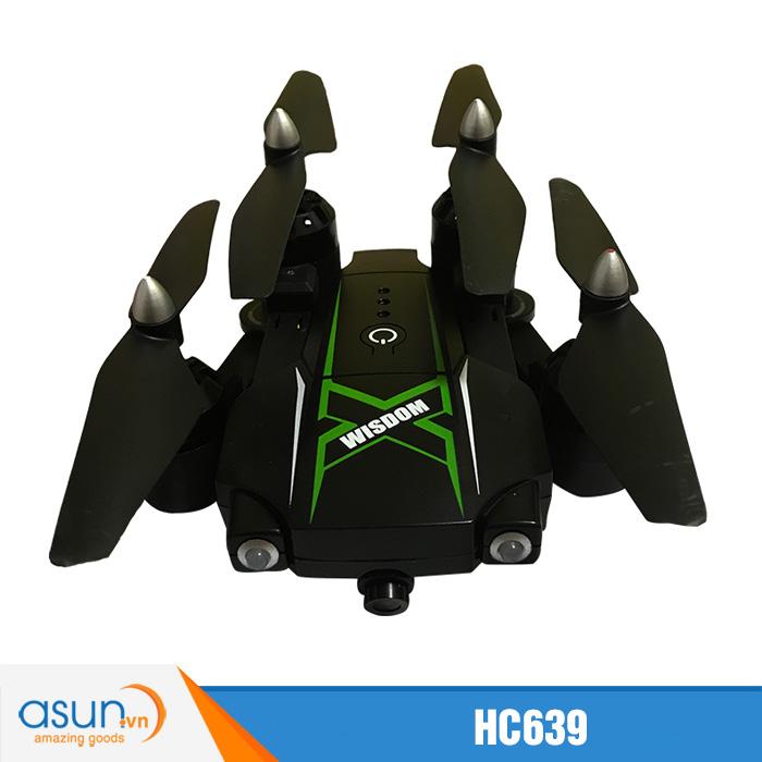 Máy Bay Điều Khiển Gấp Cánh HC639 Quadcopter Camera Wifi