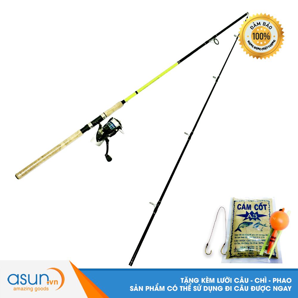 Bộ Cần Câu Cá Ashino Viper 2m4 và Máy Câu Cá ADV-4000 - CBN10