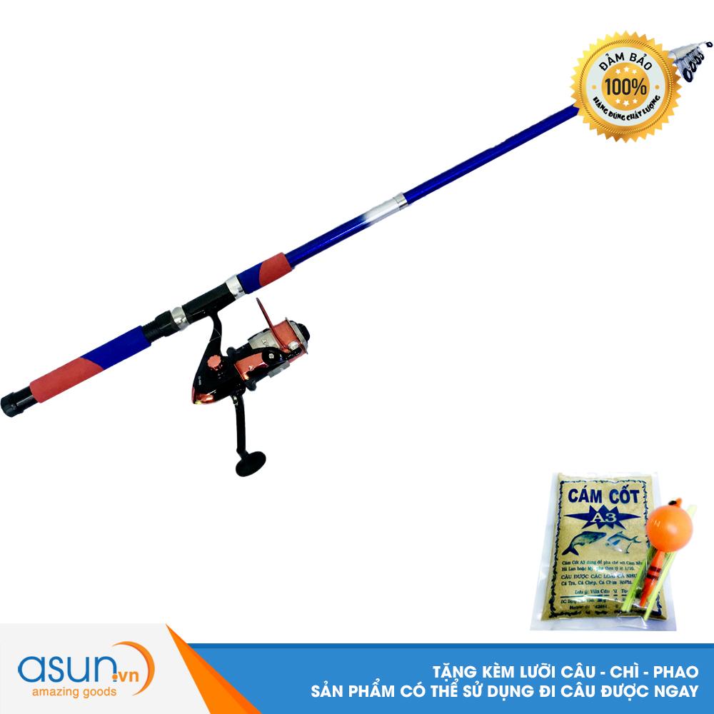 Bộ CầnCâu Cá Rút Double Fish 2m7 và Máy Câu Cá AO-4000 - CBN27