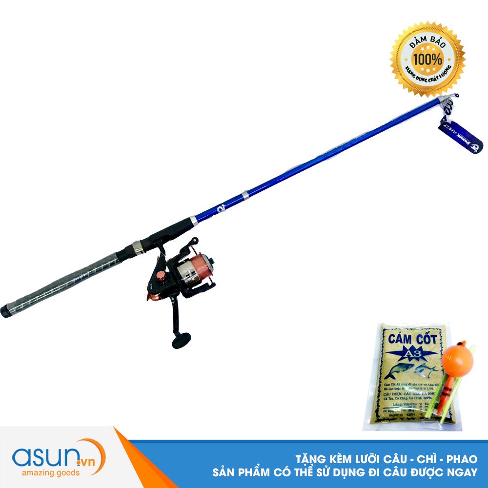 Bộ CầnCâu Cá Rút Solace 2m1 và Máy Câu Cá AO-4000 - CBN29