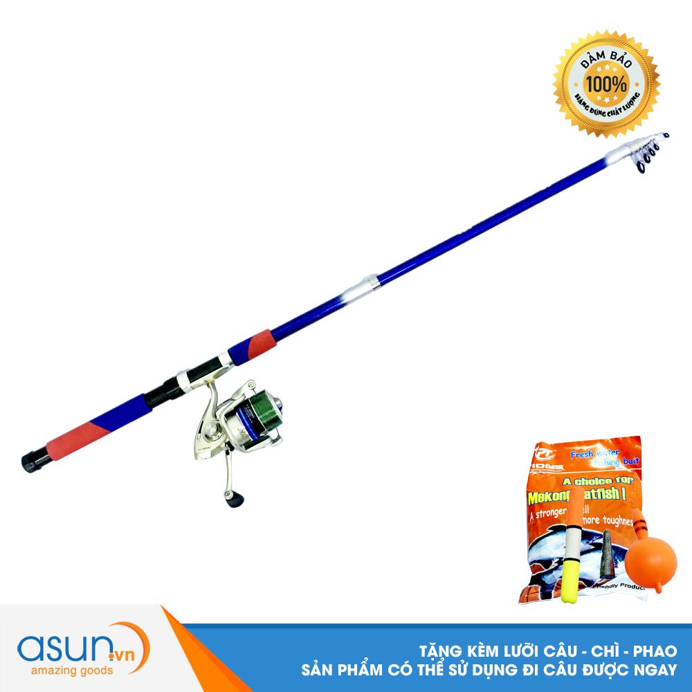 Bộ CầnCâu Cá Rút  Double Fish 2m7 và Máy Câu Cá EV-4000 - CBN39