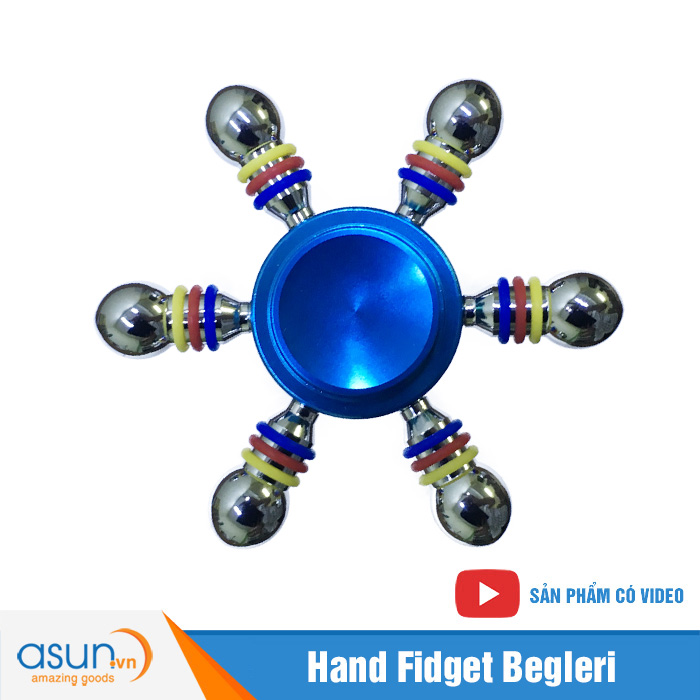 Con Quay Giảm Stress 6 Cánh Bánh Lái Hand Spinner Xanh - Fidget Spinner