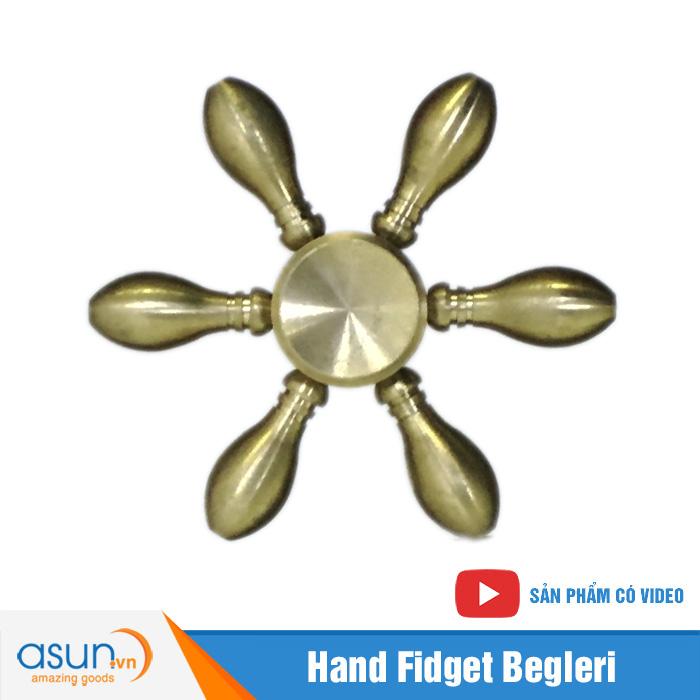 Con Quay Giảm Stress 6 Cánh Bằng Đồng Hand Spinner - Fidget Spinner