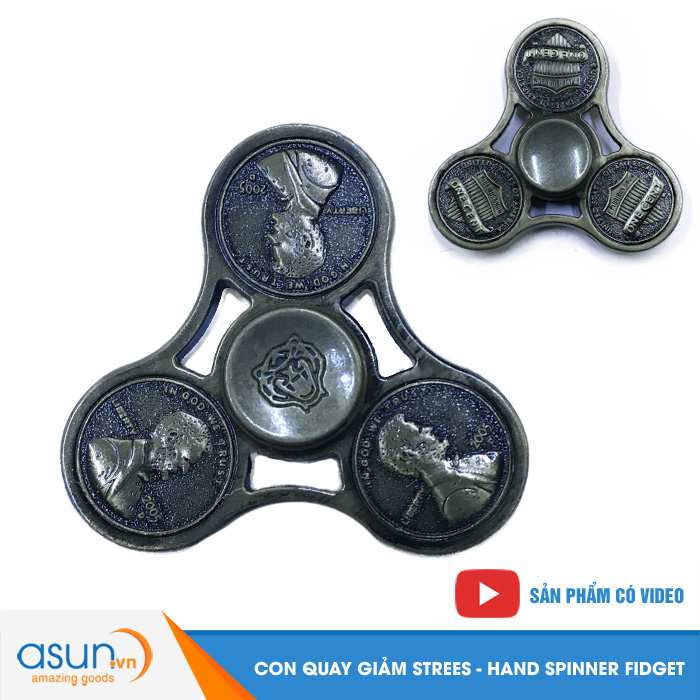 Con Quay Giảm Stress Đồng Cent Mỹ Hand Spinner - Fidget Spinner