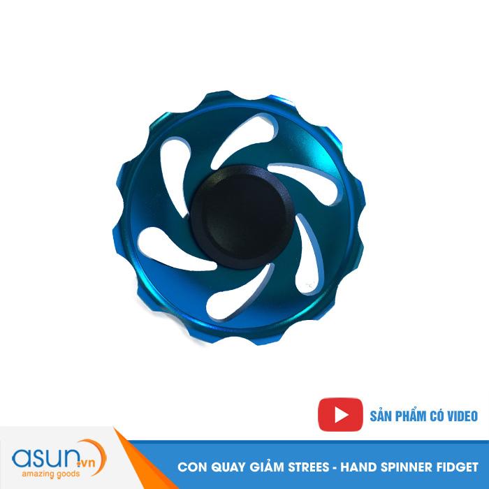Con Quay Giảm Stress Gear Nhôm Hand Spinner Xanh - Fidget Spinner