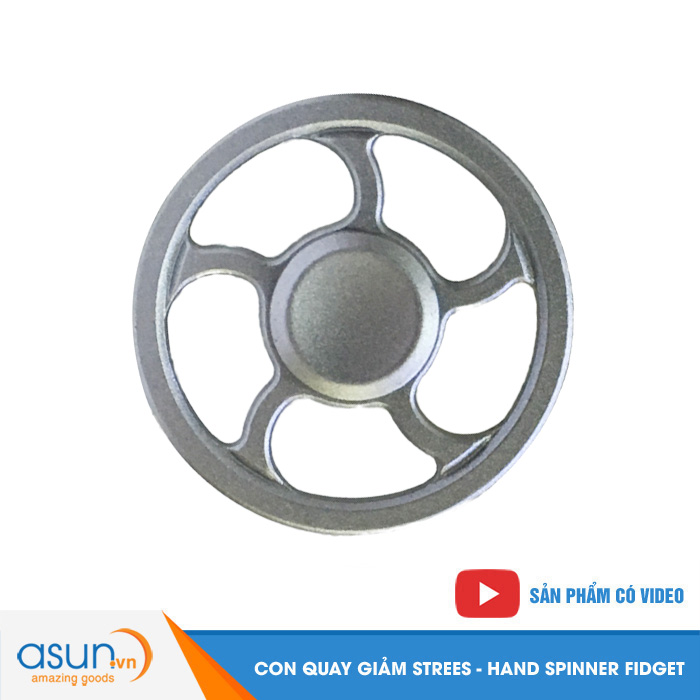 Con Quay Giảm Stress Vô Lăng Hand Spinner Bạc - Fidget Spinner