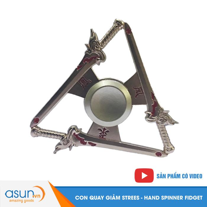 Con Quay Giảm Stress Thanh Kiếm 2 Hand Spinner - Fidget Spinner Hot 2017