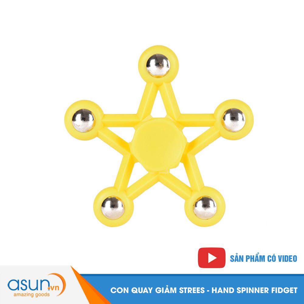 Con Quay Giảm Stress Ngôi Sao 5 Cánh Hand Spinner Vàng - Fidget Spinner Hot 2017