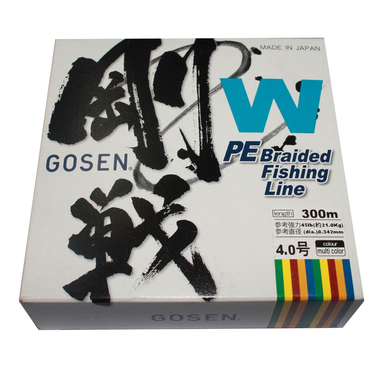 Dây Bện Câu Cá Gosen W 8Ply Braided PE 300m Loại Siêu Bền