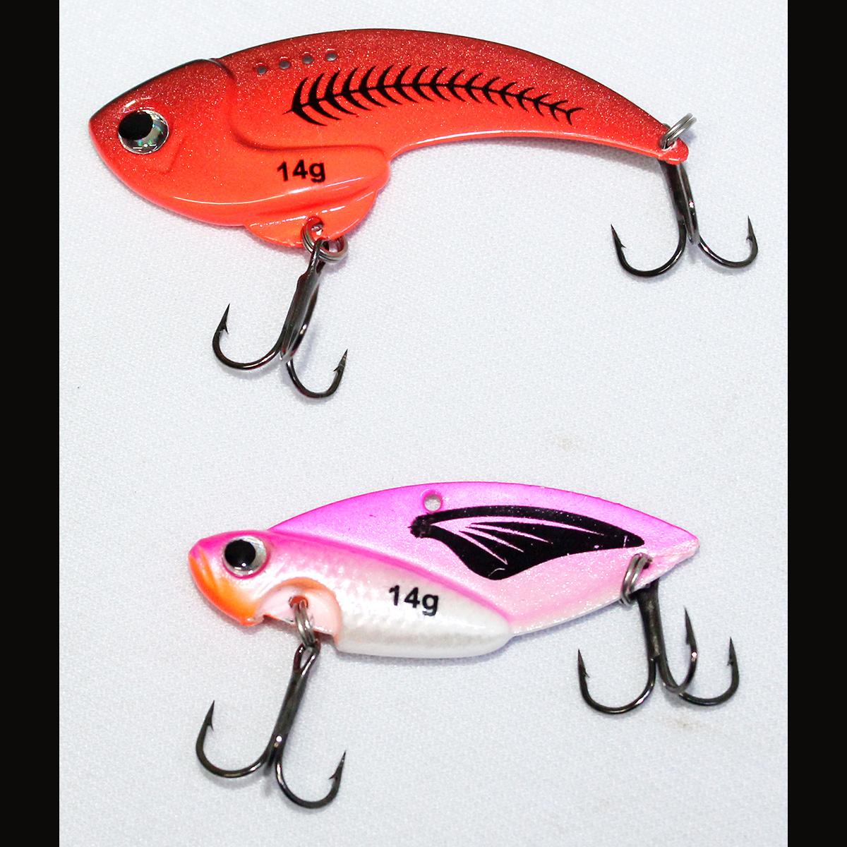 Mồi Câu Cá Giả - Cá Sắt Fishens - Cicada - Mồi Thìa Câu Lure Lóc 14g