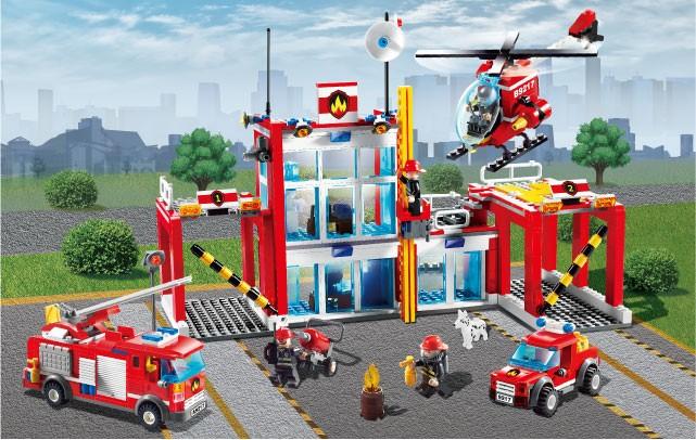 Đồ Chơi Lego Trạm Cứu Hỏa Gudi 9217