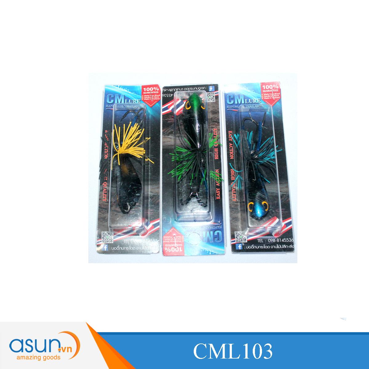 Mồi Giả Ếch Gỗ Thái Lan CM Lure 103 - Lure Lóc
