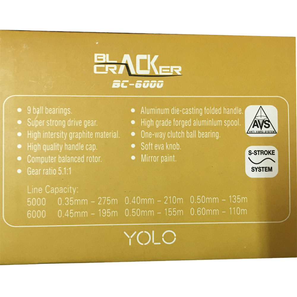 MÁY CÂU CÁ CÁ YOLO BC 6000 Black Cracker BH 3 Tháng