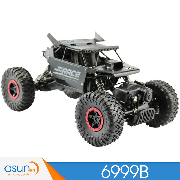 Xe  Điều Khiển Địa Hình Rock Crawler 6999B 4WD Rally Car Vỏ Nhôm Đen
