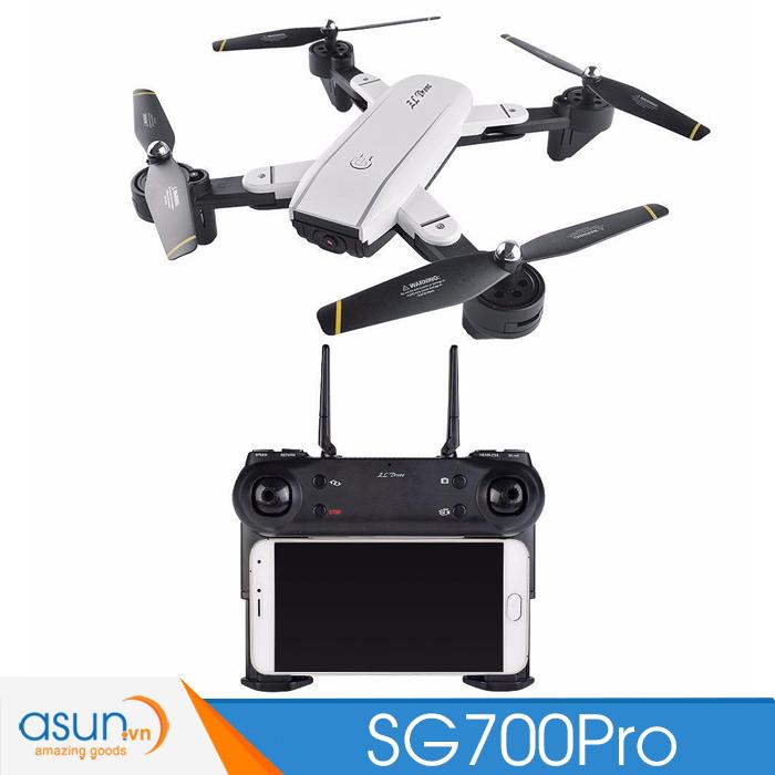 Máy Bay Điều Khiển Gấp Cánh Drone SG700 Pro Wifi 2 Camera Tự Giữ Độ Cao