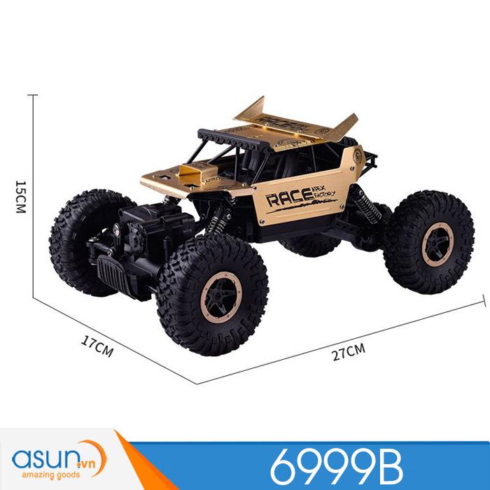 Xe  Điều Khiển Địa Hình Rock Crawler 6999B 4WD Rally Car Vỏ Nhôm