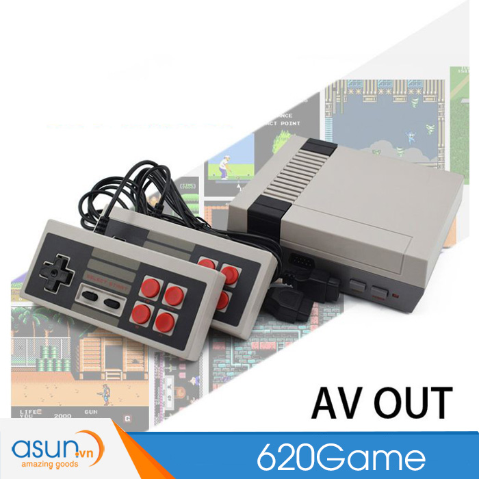 Bộ Máy Chơi Game Cổ Điển 2 Tay Cầm Nes 620 classic Games
