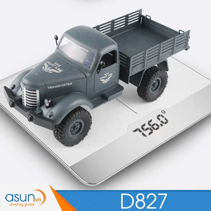 Xe Tải Quân Sự Mỹ Điều Khiển Từ Xa JJRC D827 4WD 1:16