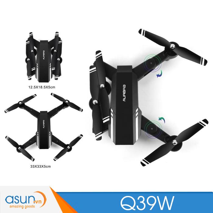 Máy Bay Điều Khiển Gấp Cánh Drone Q39W Aurora Quadcopter Wifi Camera