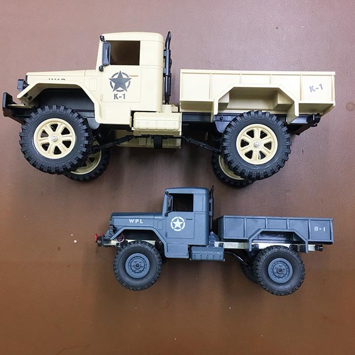 Xe Tải Quân Sự Mỹ Điều Khiển Từ Xa Military Truck WLtoys 124302 4WD 1:12