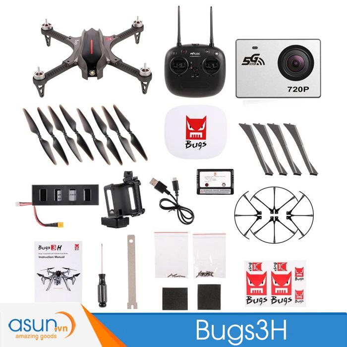 Máy Bay Điều Khiển Từ Xa MJX Bugs 3H Giữ độ cao B3H Camera C5000 720P