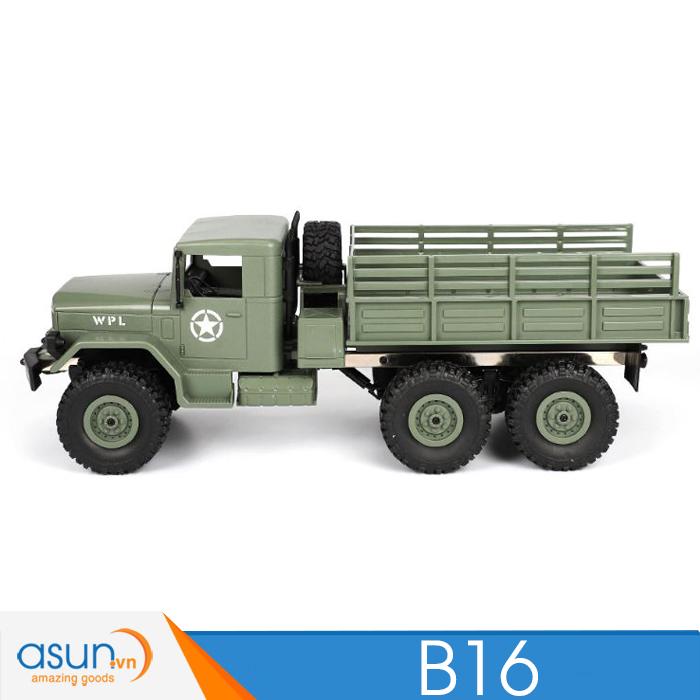 Xe Tải Quân Sự Mỹ Điều Khiển Từ Xa WPL B16 6WD 1:16