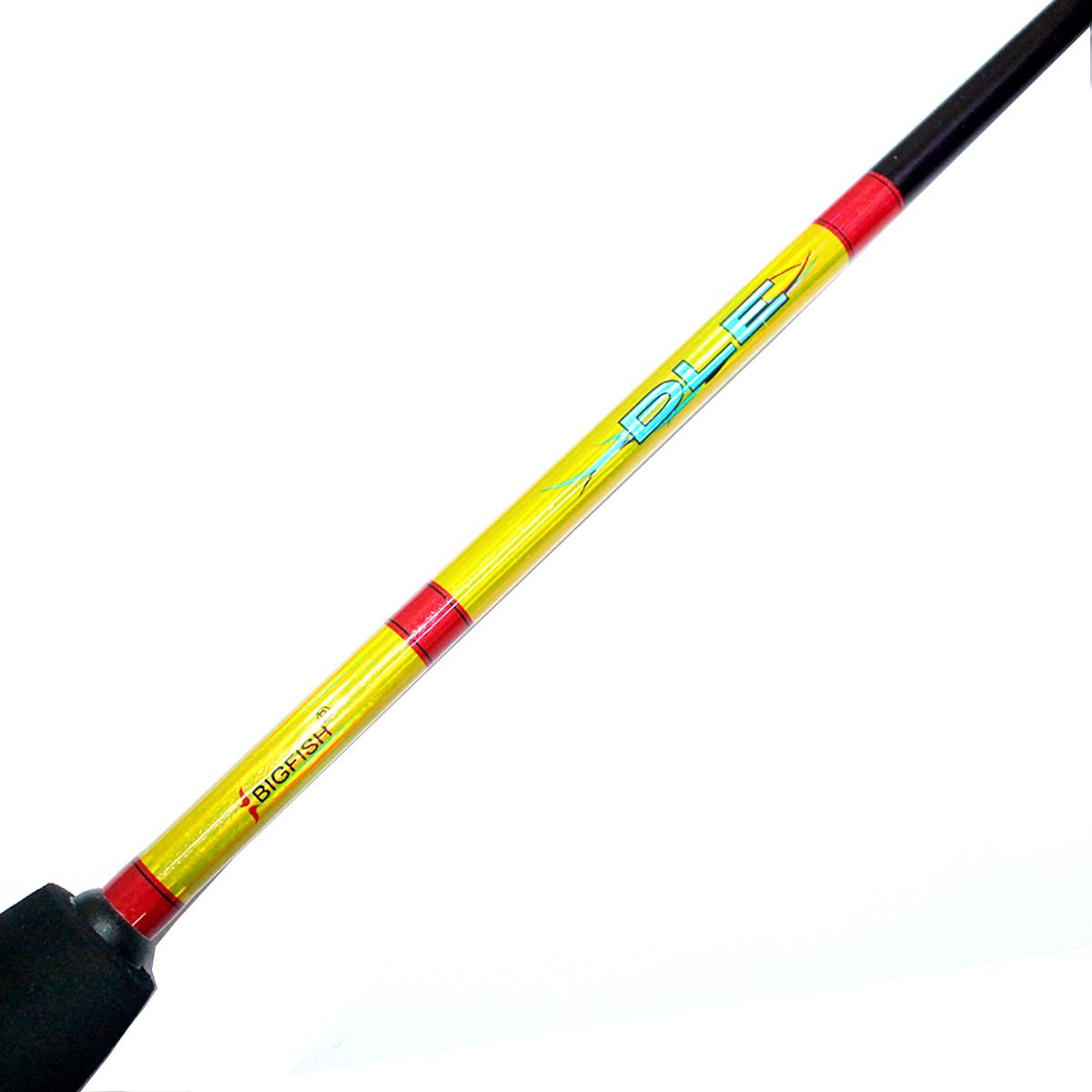 Cần Câu Máy Hai Khúc Đặc Màu Vàng DLE 1m8 - Cần Câu Phổ Thông