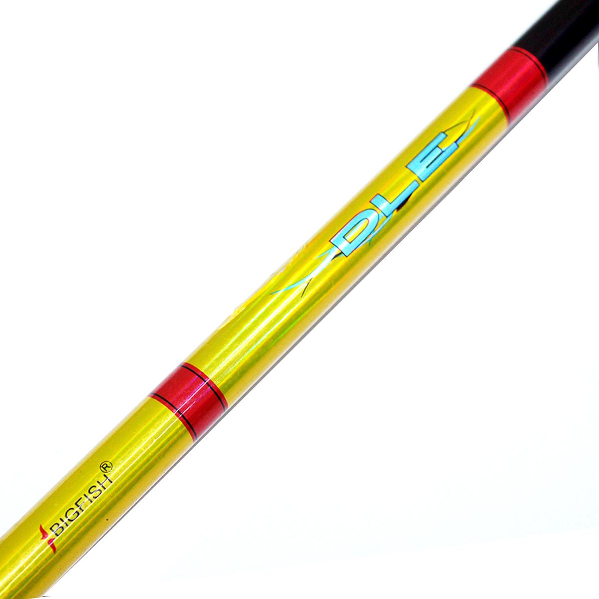 Cần Câu Máy Hai Khúc Đặc Màu Vàng DLE 2m4 - Cần Câu Phổ Thông