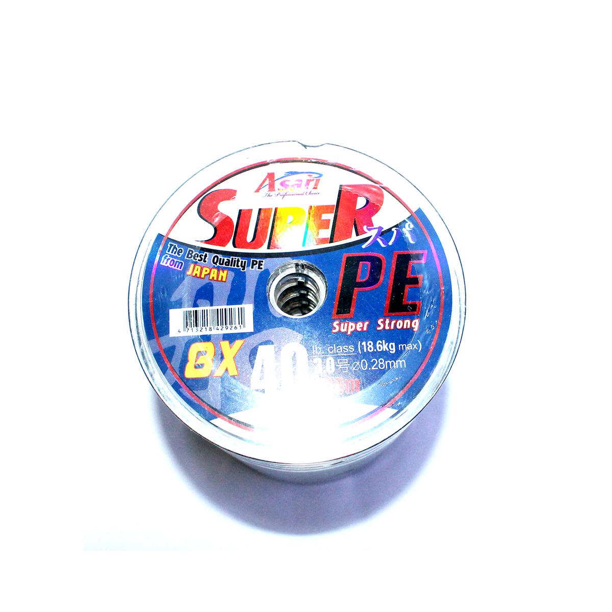 Dây Bện Câu Cá Asari Super Màu Xanh Lá - Cuộn 100m