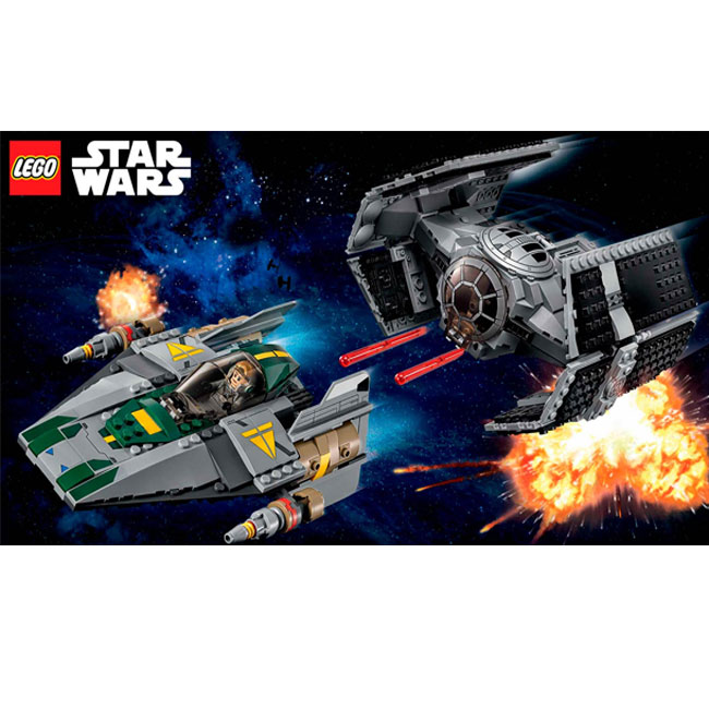 Đồ Chơi Xếp Hình - Cỗ Máy Nâng Cấp Của Vader Và Máy Bay Chiến Đấu A-Wing Thương Hiệu LEGO