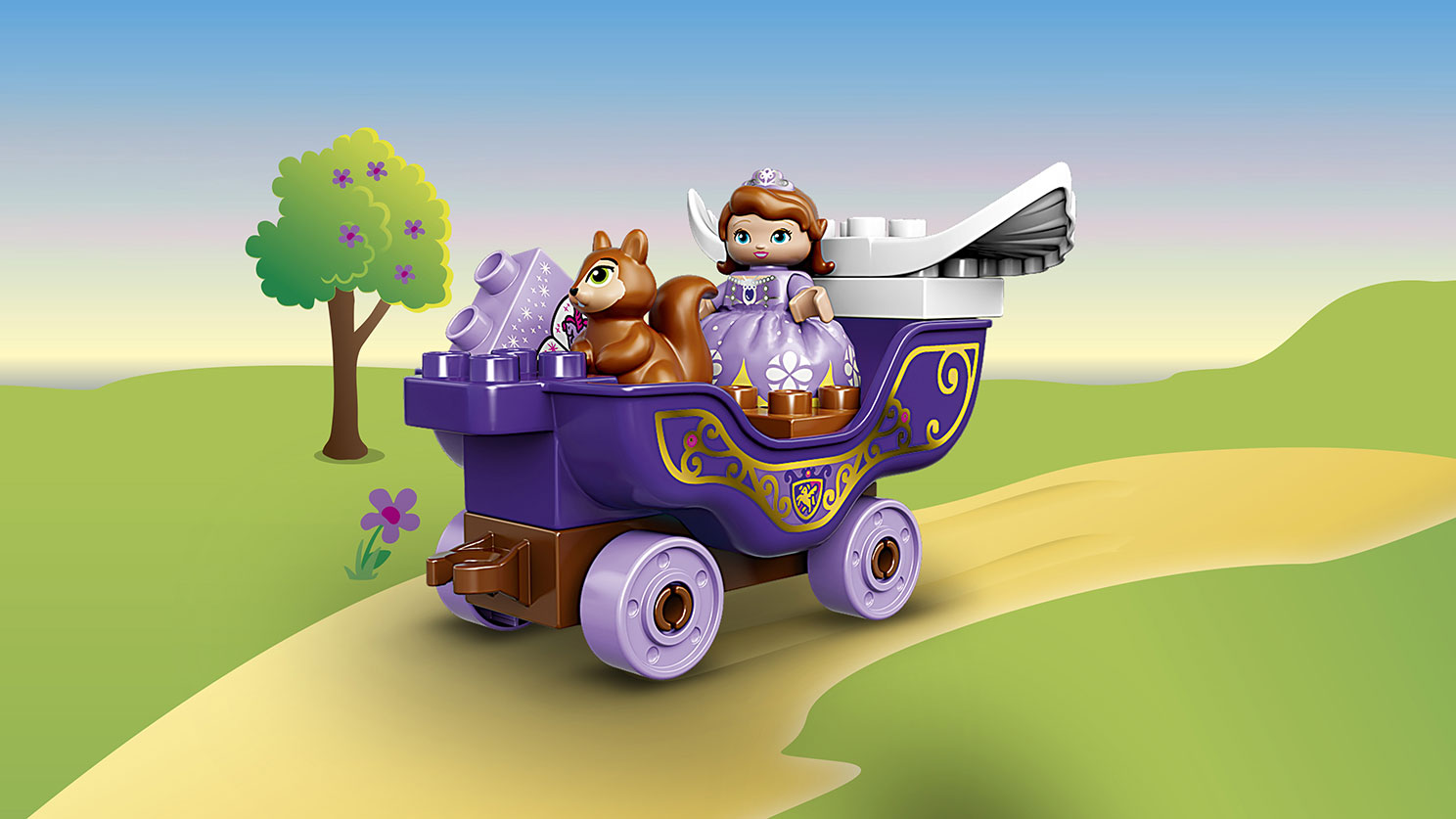 Đồ Chơi Xếp Hình - Sofia Và Xe Kéo Thần Tiên Thương Hiệu LEGO