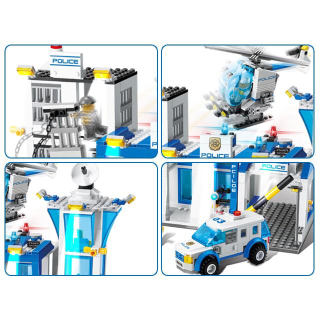 Đồ Chơi Lego Trạm Cảnh Sát GUDI 9230