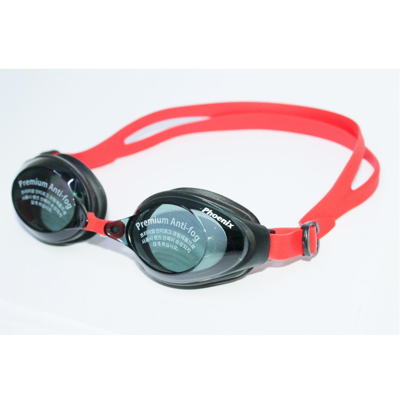 Kính bơi Phoenix chuyên nghiệp Hàn Quốc màu đen viền đỏ PN1200BKRD