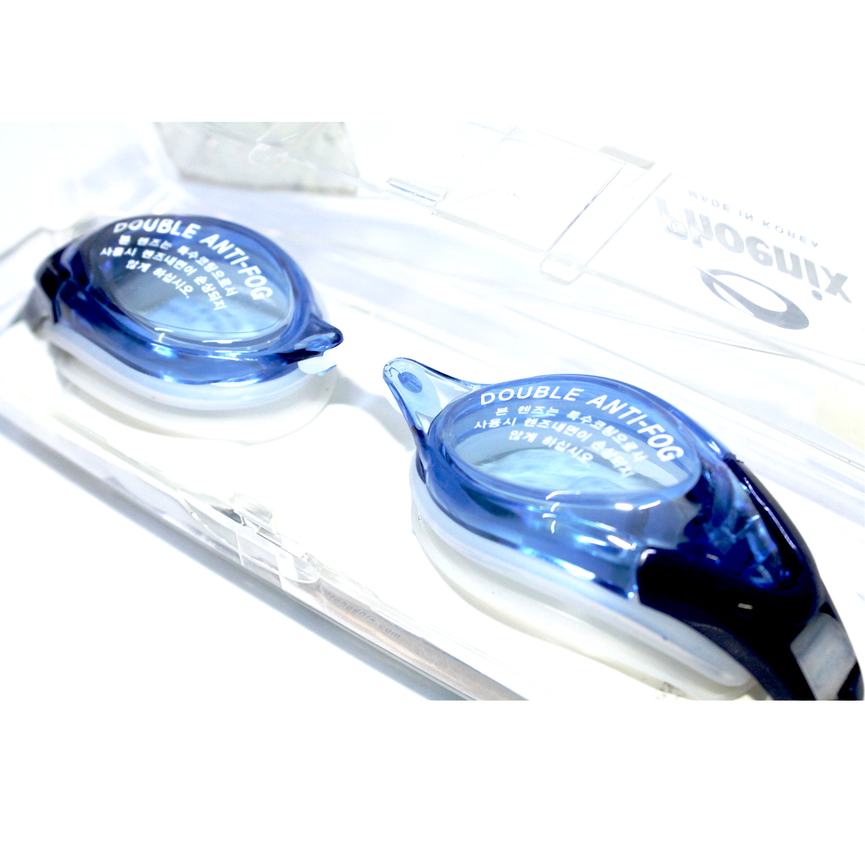 Kính bơi phoenix chuyên nghiệp Hàn Quốc màu xanh đậm PN411-Blue