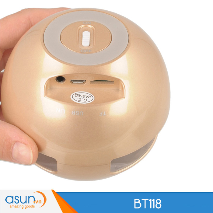 Loa Bluetooth Mini Speaker BT118 Golden