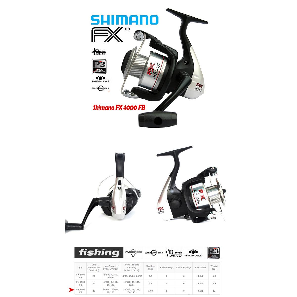 Máy câu cá Shimano FX 4000FB BH 3 Tháng Chính Hãng