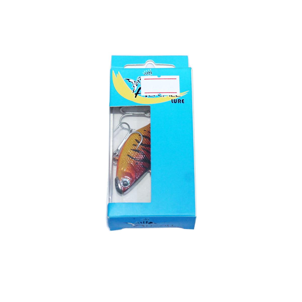Mồi Câu Cá Giả Lure Lóc - Chẽm Alkall 55 Màu Nâu