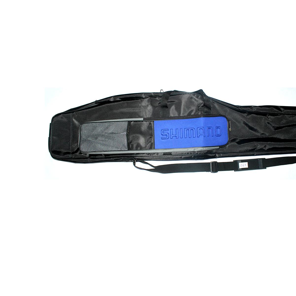 Túi Vải Đựng Cần Câu Máy Hai Khúc 3m3 Shimano Chữ Nổi Hai Ngăn 1m65