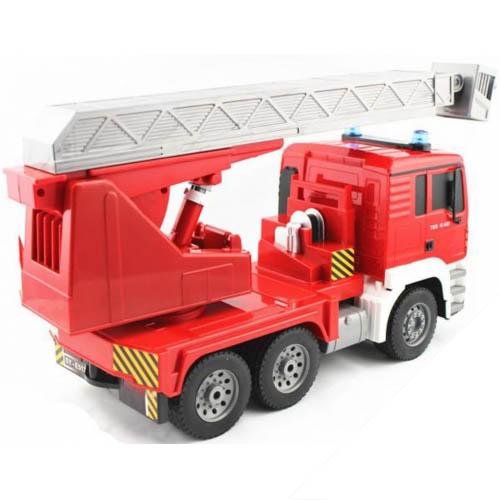 Mô Hình Xe cứu hỏa Màu Đỏ Thang Kéo Dài