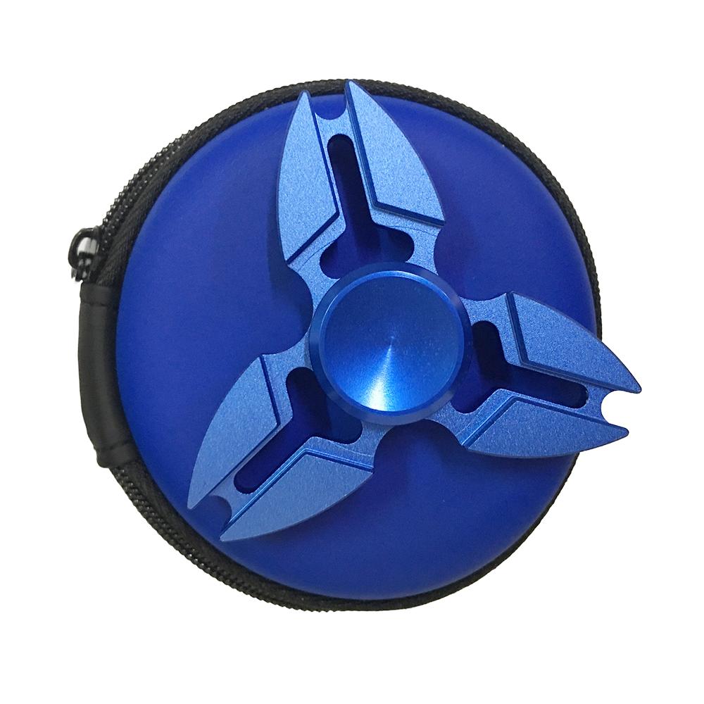 Con Quay Giảm Stress Sakura 3 Cánh Bằng Nhôm Xanh Hand Spinner - Fidget Spinner