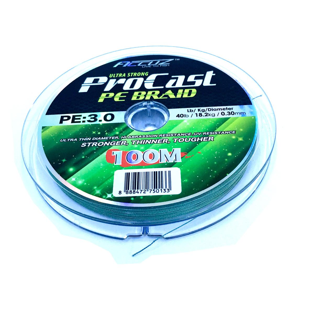 Dây Bện Accuz Ultracast Procast Cuộn 100M Chính Hãng