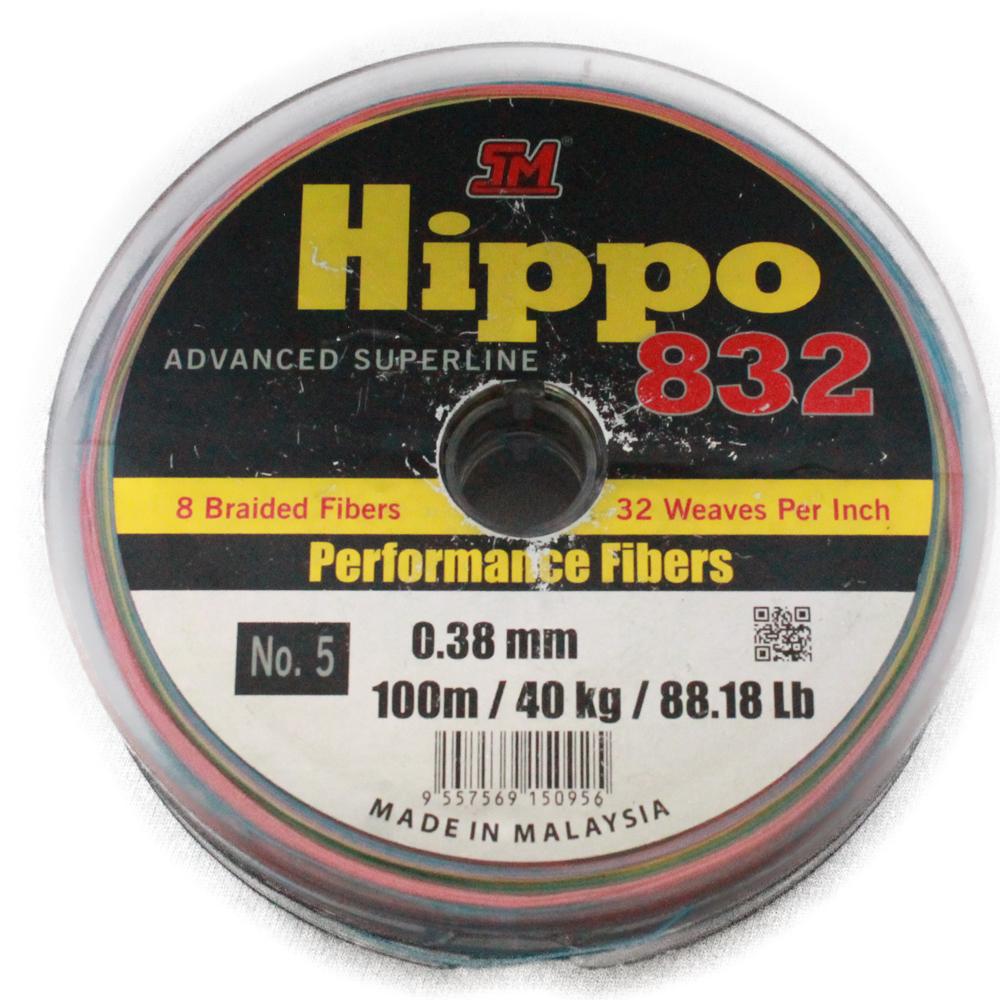 Dây Dù Câu Cá Siêu Bền TM Hippo 832 Cuộn Bảy Màu 100m