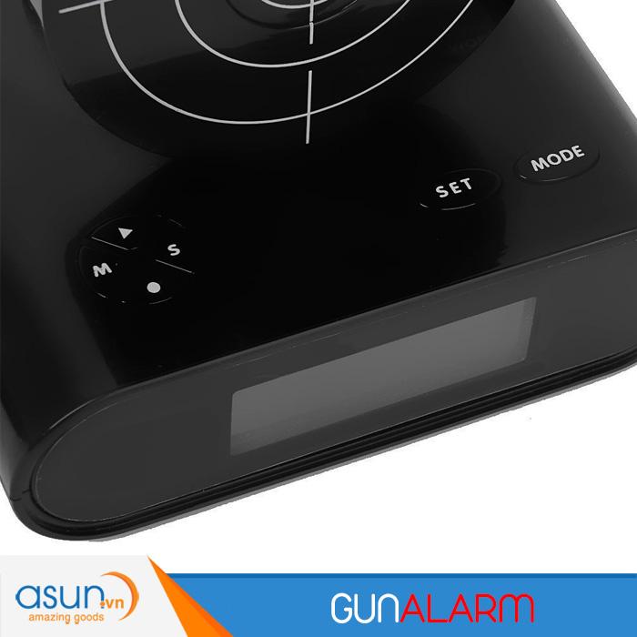 Đồng Hồ Báo Thức Bia Bắn Súng Gun Alarm Clock