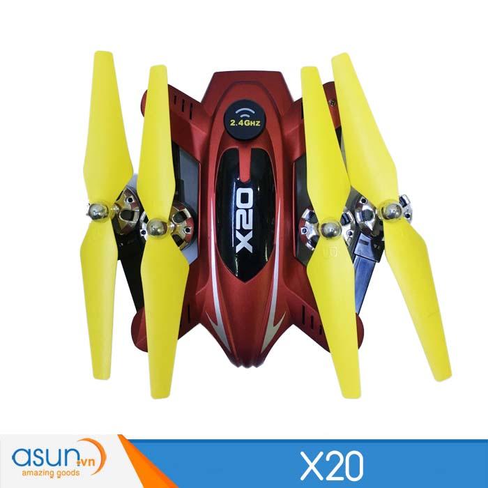 Máy Bay Điều Khiển Từ Xa 4 Cánh X20 Quadcopter Nhào Lộn