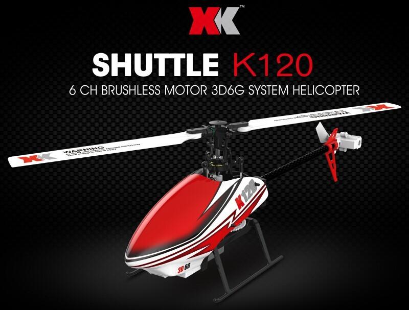 Máy Bay Điều Khiển XK K120 Shuttle 6CH Brushless 3D6G